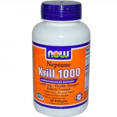 NOW FOOD Neptune Krill 1000: Viên uống duy trì sức khỏe tim mạch, 60 viên