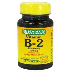 Good'N Natural Vitamin B2 – viên uống bổ sung vitamin B2 bảo vệ làn da và tăng cường năng lượng cho cơ thể, 100 viên