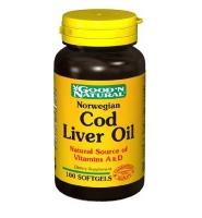 Good'N Natural Cod Live Oil – viên uống dầu gan cá bổ sung vitamin A&D giúp bảo vệ hệ xương khớp, bổ mắt, tim mạch, 100 viên