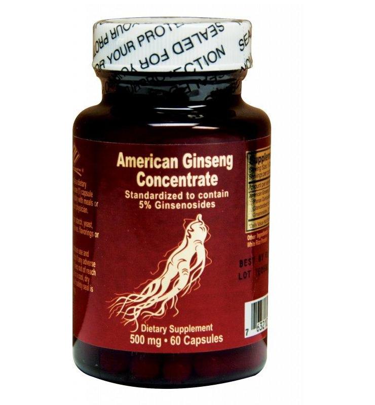 NuHealth American Ginseng Concentrate, 500mg – nhân sâm giúp tăng cường sức khỏe, 60 viên