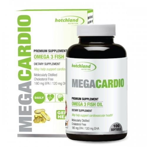 MegaCardio Omega-3 Fish Oil – Viên uống dầu cá cung cấp omega 3 nguyên chất, giúp tăng cường sức khỏe tim mạch, 100 viên