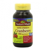 Nature Made Cranberry with Vitamin C – thuốc hỗ trợ điều trị bệnh viêm đường tiết niệu, 60 viên