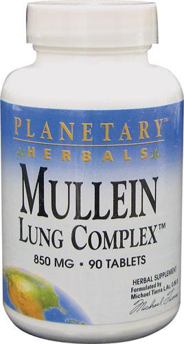 Planetary herbals Mullein Lung Complex chiết xuất từ cây Mullein có tác dụng chữa ho, viêm khí phế quản, bổ phổi và các bệnh về ngực
