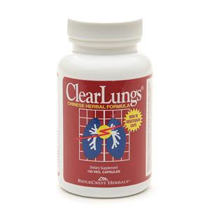 Ridgecrest Herbals Clear Lungs Chinese Herbal Fomula: hỗ trợ điều trị bệnh đường hô hấp, 120 viên