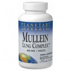 Planetary herbals Mullein Lung Complex: Viên uống hỗ trợ điều trị  ho và các bệnh về phổi 90 viên