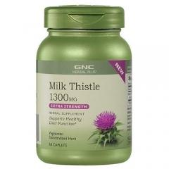GNC Milk Thistle 1300mg- Viên uống tăng cường chức năng gan, giải độc gan, 60 viên