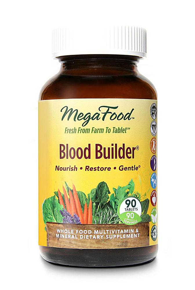 Viên uống bổ máu MegaFood Blood Builder giúp phòng và hỗ trợ điều trị thiếu máu
