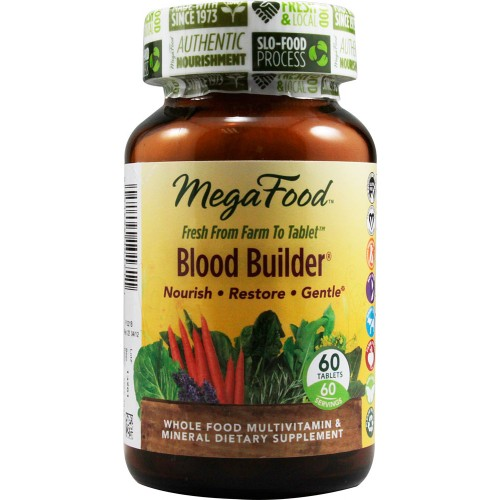 MegaFood Blood Builder: Viên uống bổ máu, 60 viên