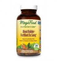 MegaFood Blood Builder: Thuốc bổ sung  sắt, acid folic, vitamin B12 giúp duy trì mức độ sắt trong máu khỏe mạnh, 30 viên