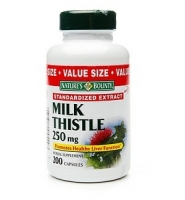 Nature's Bounty Milk Thistle 250mg – thuốc giải độc gan, tăng cường chức năng gan, 200 viên