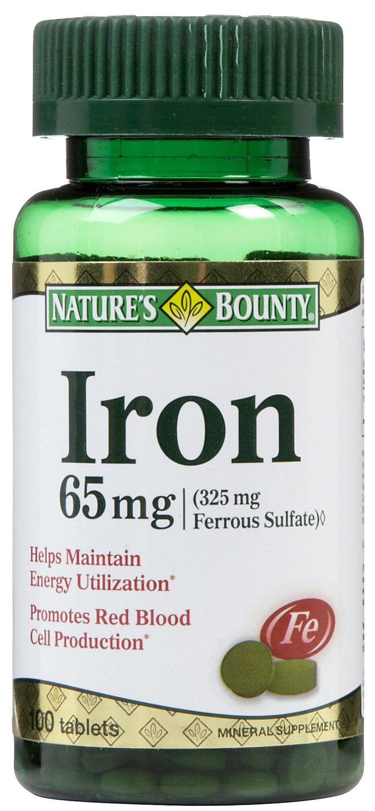 Nature's Bounty Ironn bổ sung sắt