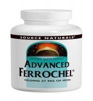 Source Naturals Advanced errochelf: Thuốc phòng ngừa và hỗ trợ điều trị thiếu máu, thiếu sắt, 180 viên