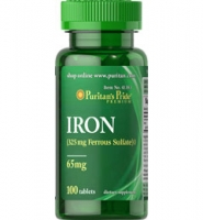 Puritan's Pride IRON: Thuốc bổ sung sắt, 100 viên