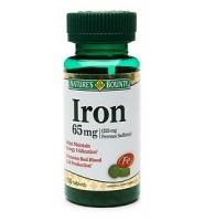 Nature's Bounty Iron: Thuốc bổ sung sắt, hỗ trợ điều trị bệnh thiếu máu 100 viên