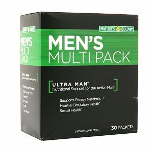 Nature's bounty men's multi pack – viên uống bổ sung vitamin, khoáng chất cho nam giới, 30 gói
