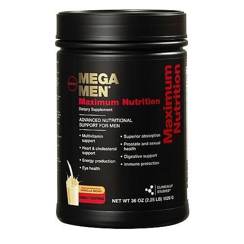 GNC Mega Men Maximum Nutrition – Sữa bổ sung dinh dưỡng, cung cấp vitamin khoáng chất cho nam giới, 2.25 lbs