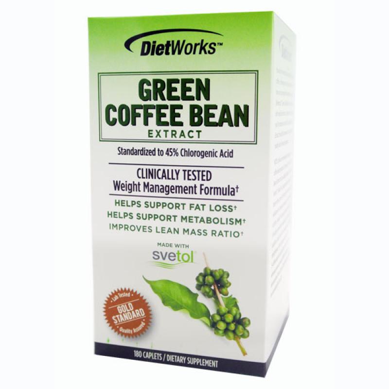 Dietworks Green Coffee Bean Extract Viên Giảm Cân Chiếc Xuất Từ  Hạt Cà Phê Tươi 180 viên