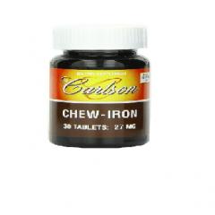 Carlson Labs Chew Iron: Viên nhai bổ sung sắt mang hương vị nho tự nhiên, 30 viên