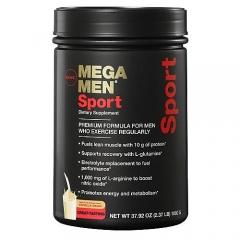 GNC Mega Men Sport – Sữa bổ sung dinh dưỡng, vitamin cho nam giới chơi thể thao, vị socola, 1.1kg