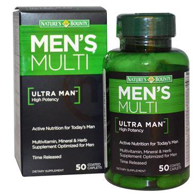 Nature's bounty men's multi ultra man – viên bổ sung vitamin, khoáng chất cho nam giới, 50 viên