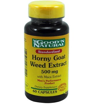 Good'N Natural Horny Goat Weed Extract 500mg – Viên uống tăng cường sinh lý, cải thiện khả năng tình dục, 60 viên