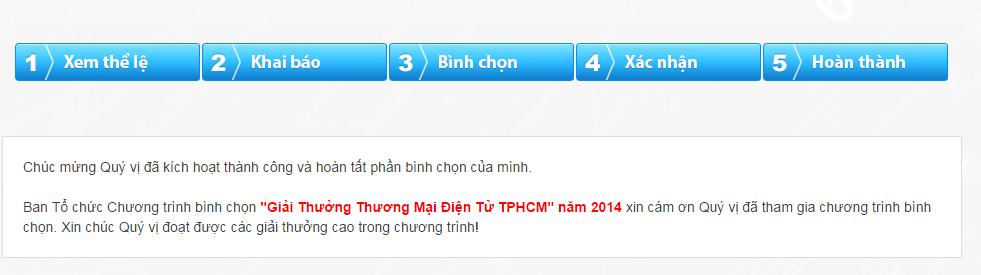 Chương trình bình chọn giải thưởng thương mại điện tử tphcm - hcmc ecaward