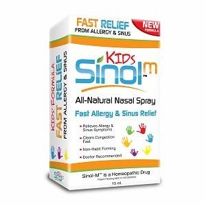 Sinol- M Fast relief from Allergy & Sinus Kids: xịt hỗ trợ điều trị các triệu chứng của viêm mũi dị ứng và viêm xoang dành cho trẻ em, 15 ml