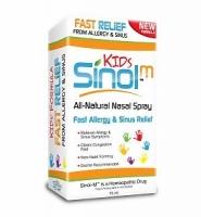 Sinol- M Fast relief from Allergy & Sinus Kids: Thuốc xịt hỗ trợ điều trị các triệu chứng của viêm mũi dị ứng và viêm xoang dành cho trẻ em, 15 ml