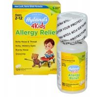 Hyland's Allergy Relief 4kids: thuốc hỗ trợ điều trị các triệu chứng dị ứng đường hô hấp dành cho trẻ từ 2- 12 tuổi, 125 viên