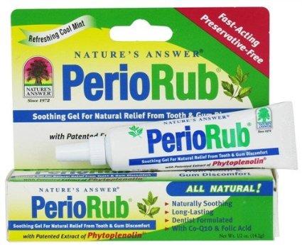 Nature's Answer Gel PerioRub là loại gel giúp làm dịu nhẹ làm giảm đau nhanh và khó chịu ở răng, nướu