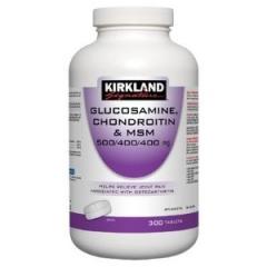 Kirkland Signature Glucosamine, Chondroitin and MSM: cung cấp Glucosamine, Chondroitin, MSM giúp làm giảm các cơn đau và duy trì xương khớp khỏe mạnh, 300 viên