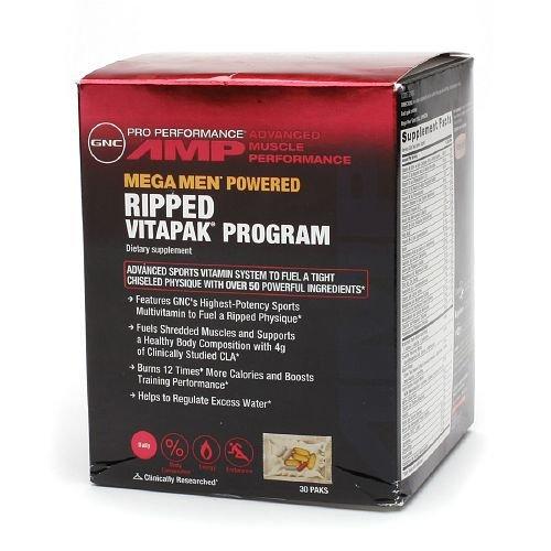 GNC Mega Men Ripped Vitapak – bổ sung vitamin, tăng cường khoáng chất cho vận động viên chuyên nghiệp, 30 gói