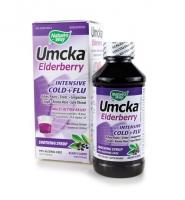 Nature's Way Umcka Elderberry: Siro hỗ trợ điều trị cảm lạnh, cảm cúm, 120 ml