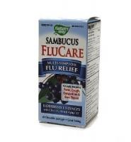 Nature's Way Sambucus FluCare: Siro hỗ trợ điều trị cảm cúm, vị mâm xôi, 120 ml
