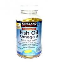 Kirkland Signature Enteric Coated Fish oil omega 3: Tinh chất dầu gan cá khai thác từ biển sâu, sạch nhất thể giới, 180 viên.