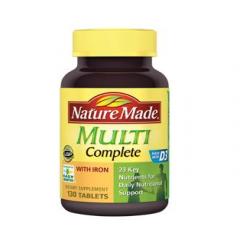 Nature Made Multi Complete - Viên bổ sung vitamin khoáng chất cần thiết cho cơ thể, 130 Viên