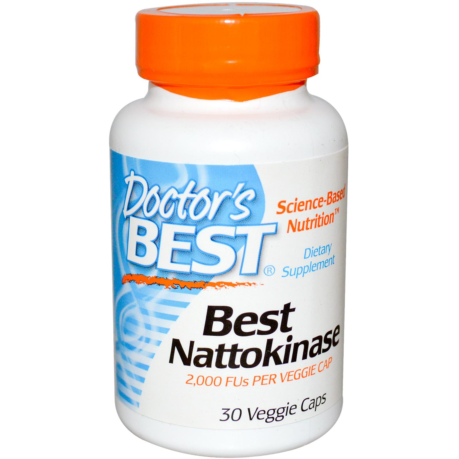 Doctors Best Best Nattokinase – Viên uống Bổ Tim Mạch Và Ngăn Ngừa Đột Qụy, 30 viên