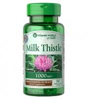 Vitamin World Milk Thistle 1000 mg, 90 viên- Viên Uống Bổ Gan và Giải Độc Gan, hỗ trợ điều trị ung thư gan hiệu quả