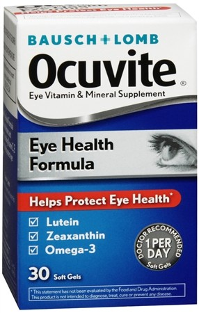 Bausch + Lomb Ocuvite Help Protect Eye Health Formula cung cấp Lutein, Zeaxanthin, Omega- 3 cho mắt sáng khỏe