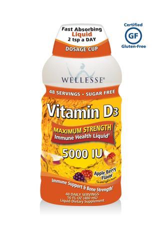 Tác dụng nổi bật của wellesse vitamin d3 5000 iu