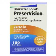 Viên uống bổ sung vitamin và khoáng chất giúp mắt sáng, khỏe: Bausch Lomb PreserVision Lutein, 180 viên