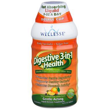 Nước uống Wellesse Digestive 3-in-1 Health giúp hỗ trợ hệ tiêu hóa hiệu quả, 480ml