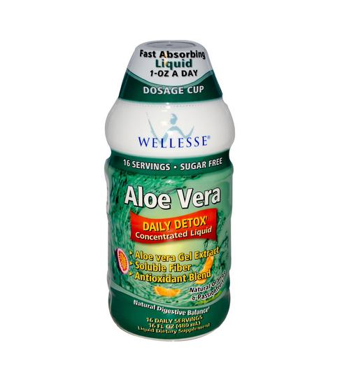Nước uống duy trì sức khỏe hệ tiêu hóa khỏe mạnh: Wellesse Concentrated Liquid Herbal Supplement Aloe, 480 ml