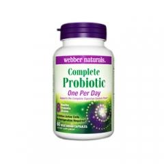 Viên uống hỗ trợ đường tiêu hóa khỏe manh: Webber Naturals Complete Probiotic, 60 viên
