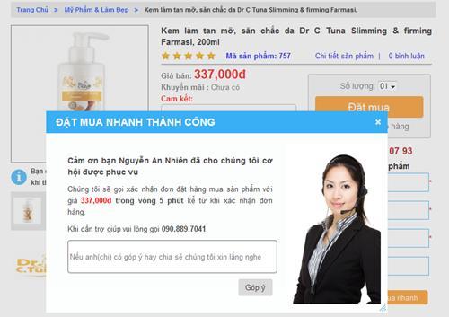 Hướng dẫn cách mua hàng nhanh một sản phẩm
