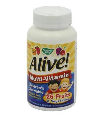 Nature's way alive children's multi-vitamin - kẹo dẻo vitamin khoáng chất giúp trẻ ăn ngon, ngủ tốt phát triển vượt bậc, 120 viên