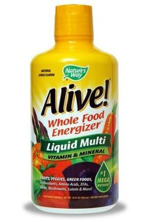 Alive Liquid Vitamin Nature's Way cung cấp 25 vitamin và khoáng chất thiết yếu, 18 axit amin, 40 chất chống oxy hóa cho cơ thể bạn luôn khỏe mạnh