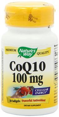 Viên uống nature's way coq10 100mg giúp bảo vệ tim mạch, điều hòa huyết áp, 30 viên
