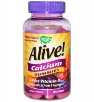 Nature's Way Alive Calcium Gummies – kẹo dẻo bổ sung canxi và vitamin D giúp xương chắc khỏe, 60 viên
