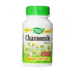 Nature's Way Chamomile Flowers – Viên hỗ trợ đường tiêu hóa chiết xuất từ Cúc La Mã, 100 viên.